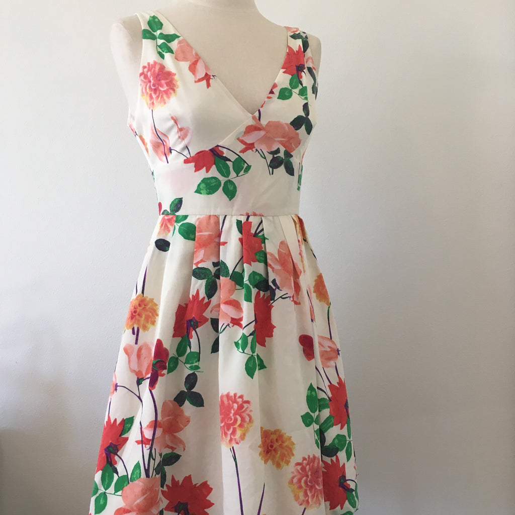 BB Dakota Floral Fit Flare Dress