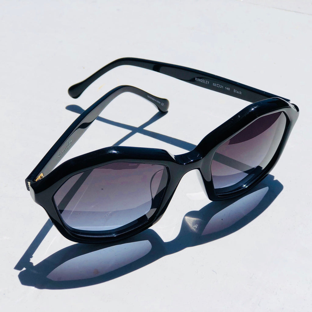 Steven Alan Octagon Black Sunglasses