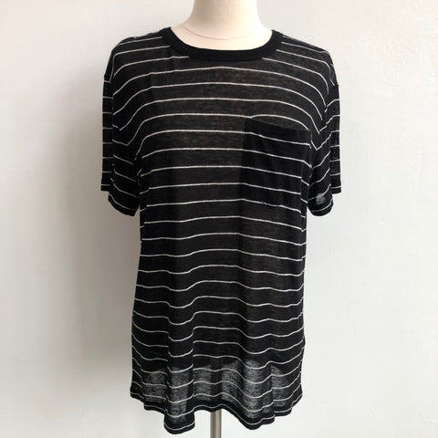 Alexander Wang Black White Sweater Tee