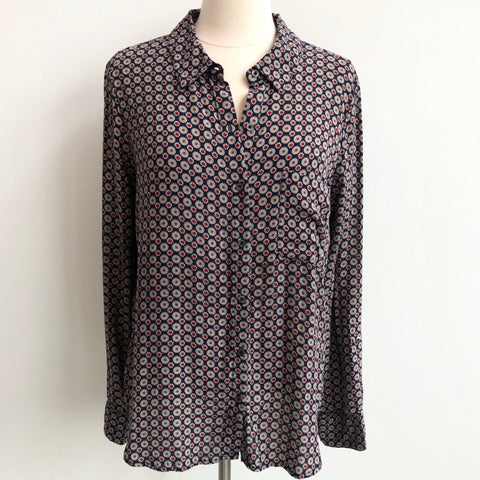 Joie Red Navy Blouse