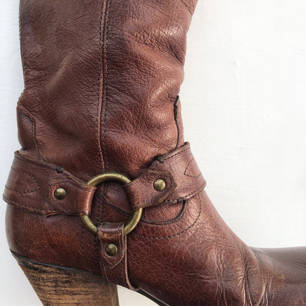 Frye Brown Scallop Boot