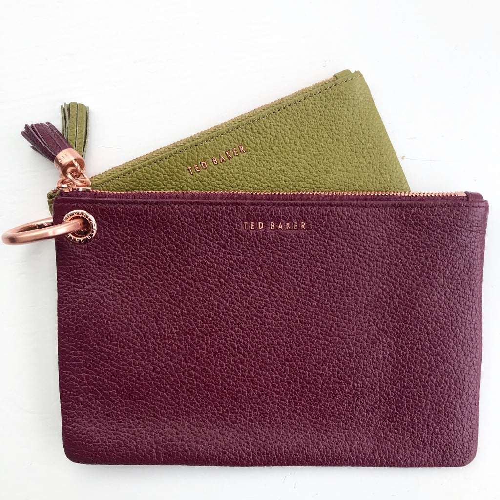 Ted Baker Green & Wine Zippie