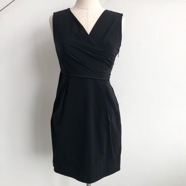 DVF Black Wrap Neck