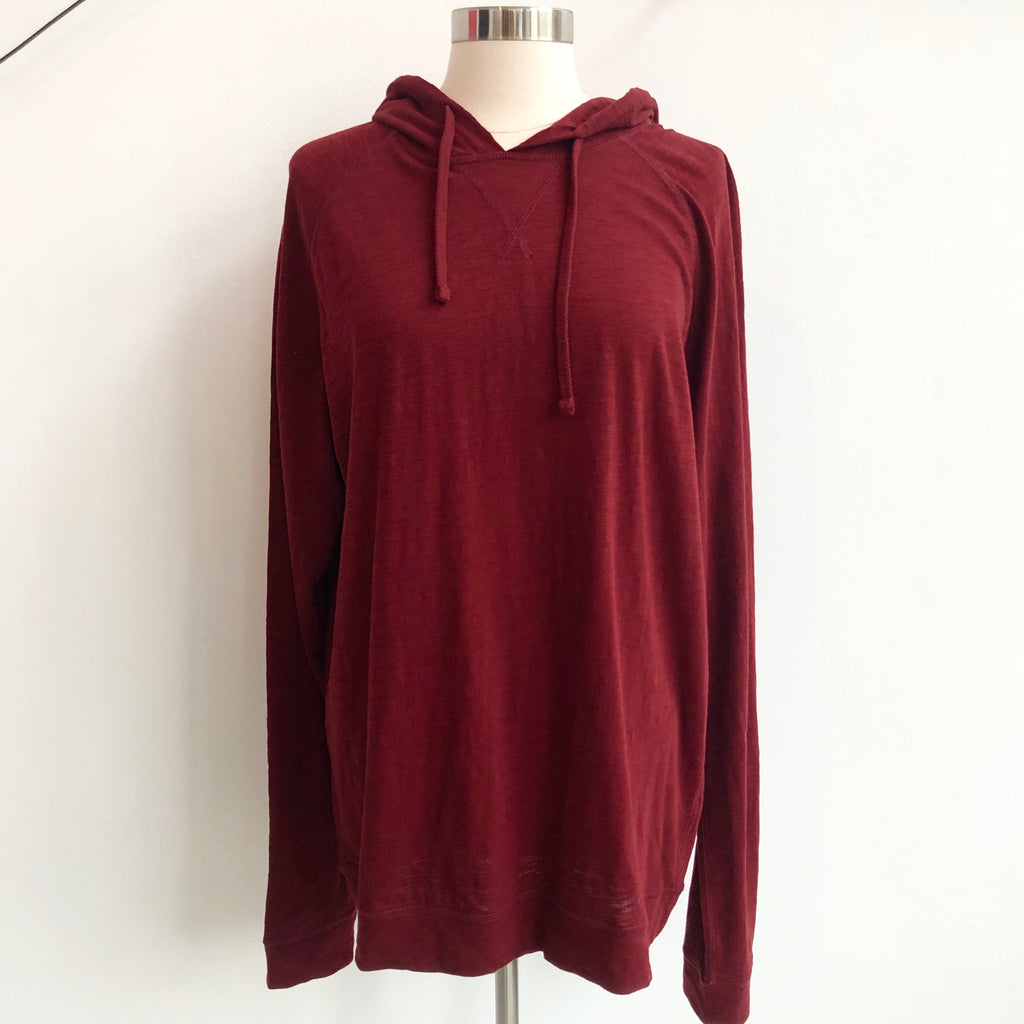 Vince Burgundy Cotton Hoodie NWT