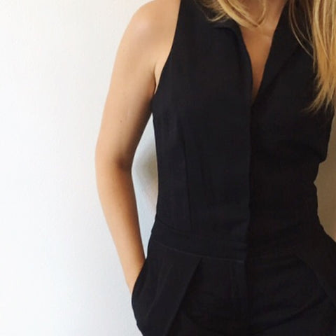 A.L.C. Black Tux Jumpsuit