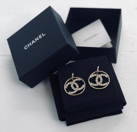 Copy of CHANEL - Crystal Studded Circles (reserved)