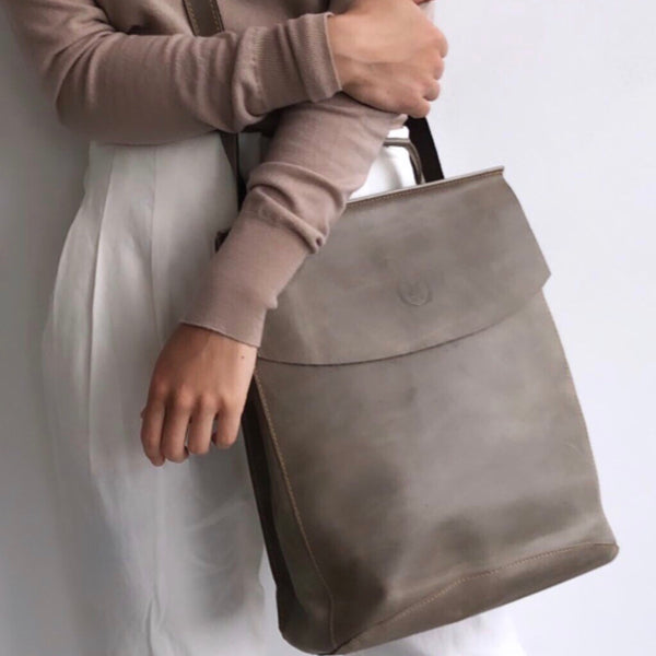 DesignsbyTHOR Chelsea Taupe Backpack