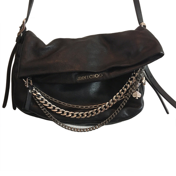 Jimmy Choo Foldover Small Biker Bag