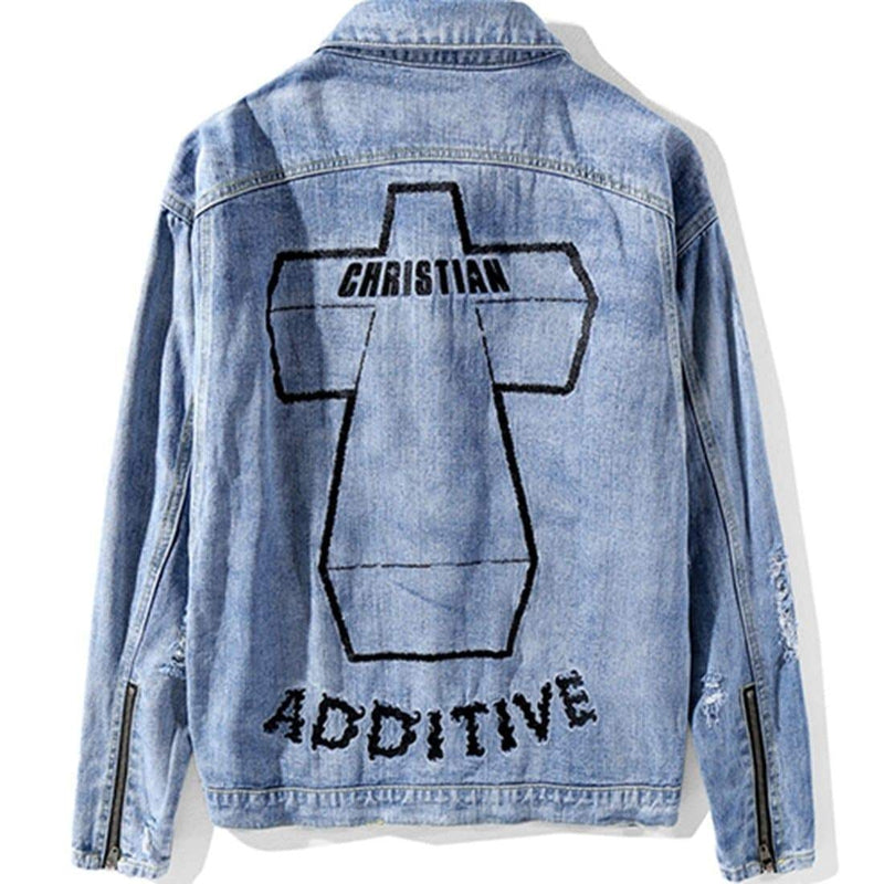 CHRISTIAN ADDITIVE DENIM JACKET