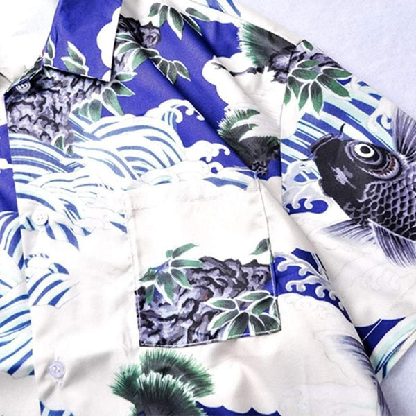 UKIYO-E COBALT SHIRT - Raiment NYC
