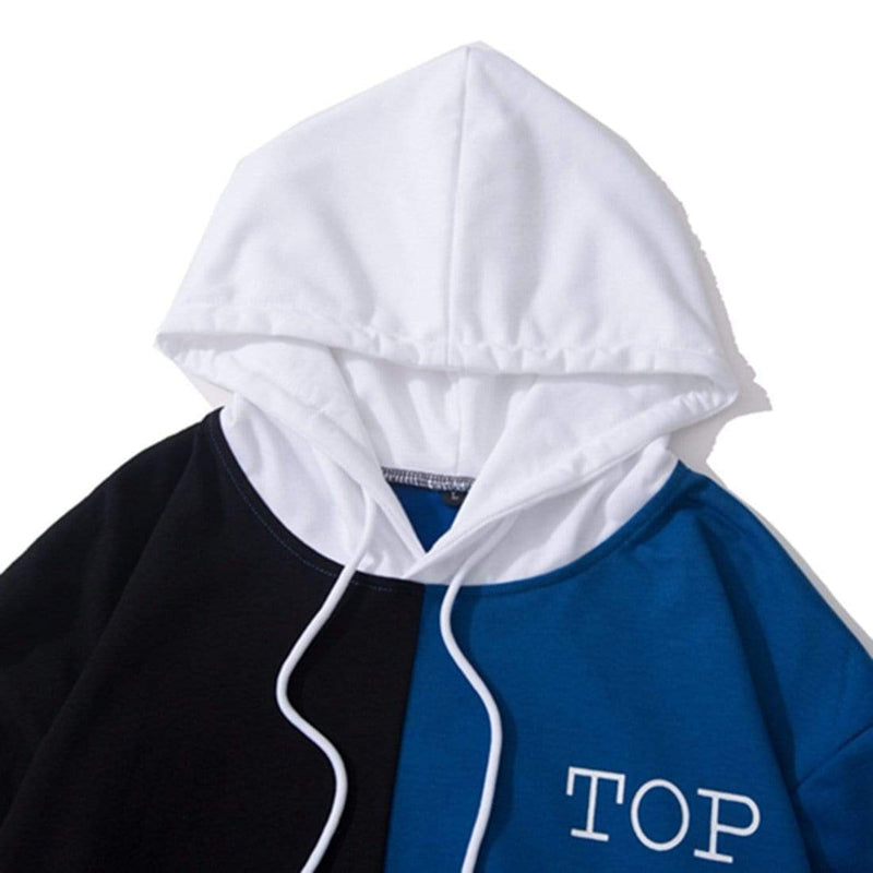 TOP PATCHWORK HOODIE - Raiment NYC