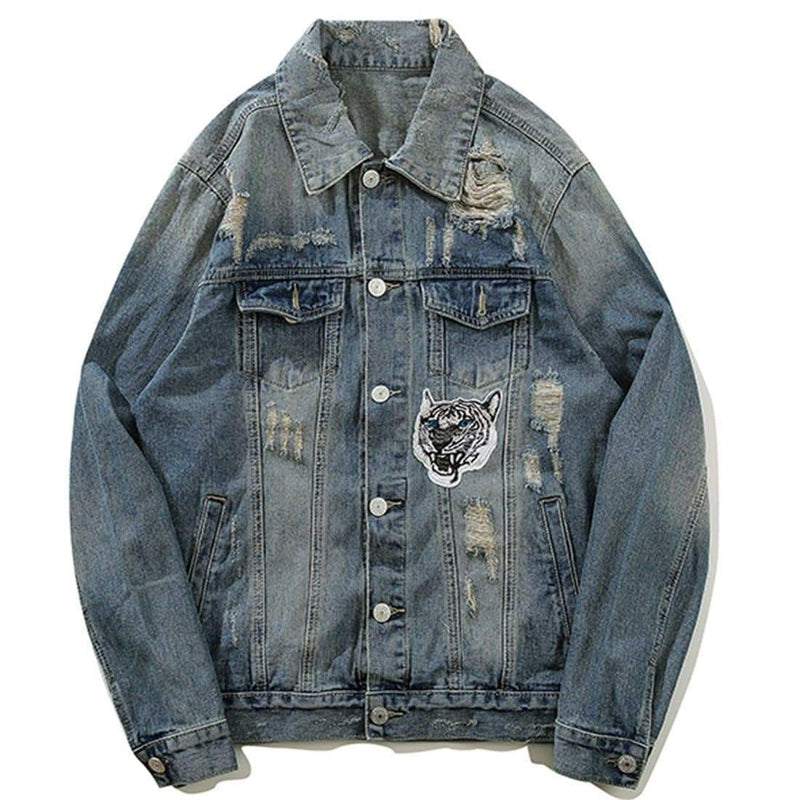 BLUE TIGER DENIM JACKET