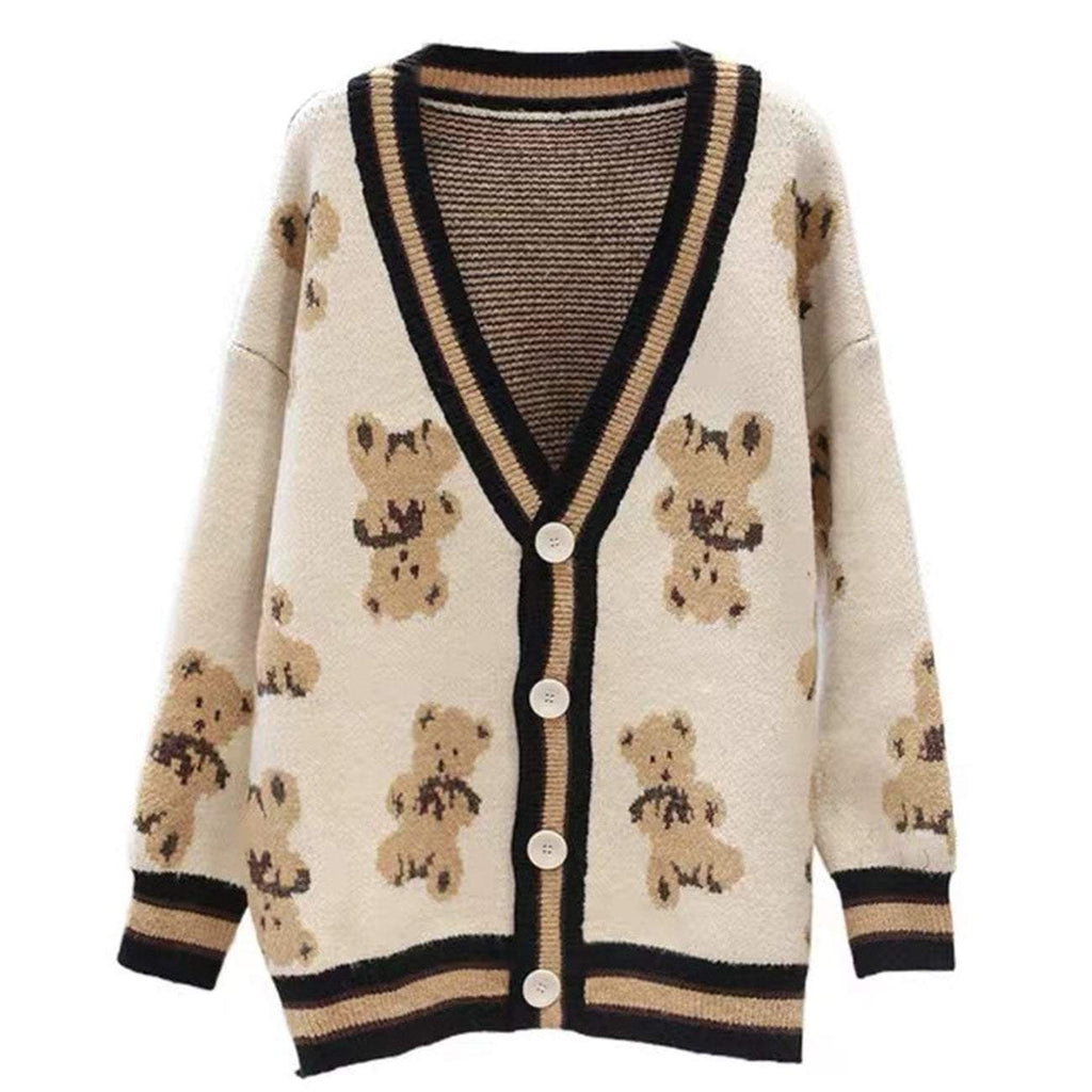 COZY TEDDY KNITTED CARDIGAN