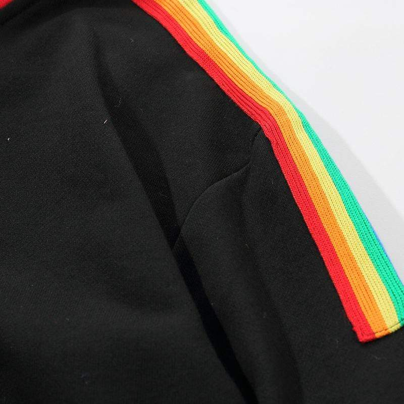 NEVER HATE RAINBOW HOODIE - Raiment NYC