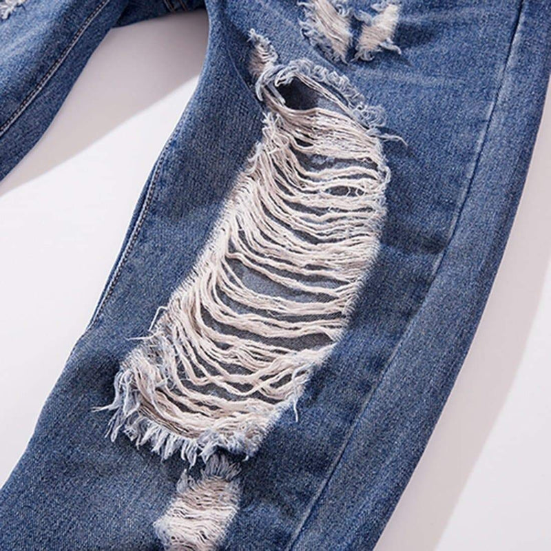 JAZZ RIBBONS RIPPED JEANS - Raiment NYC