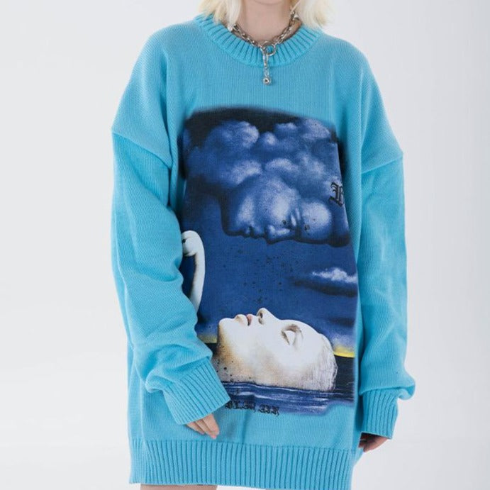 SLEEPING SWAN SWEATER
