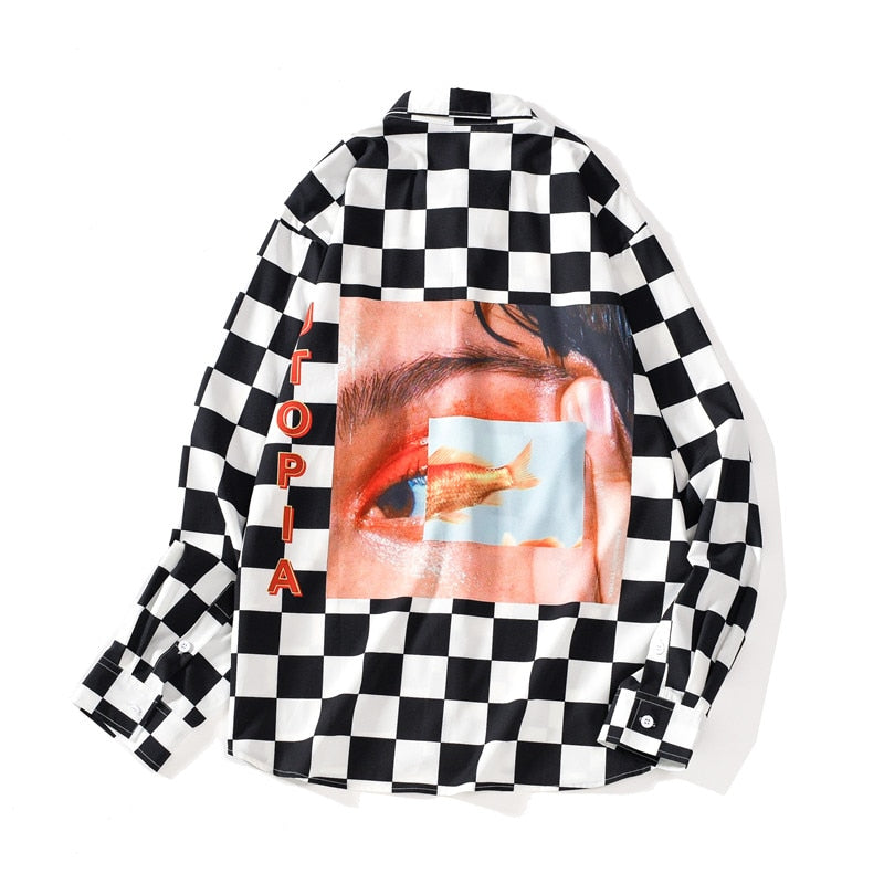 CHECKERED GOLDFISH TEE