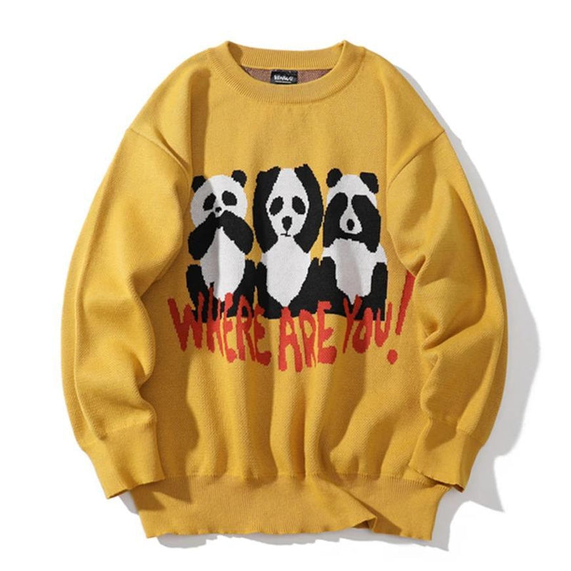 WRU PANDA SWEATER - Raiment NYC