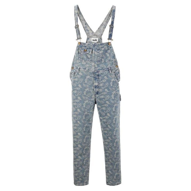 PAISLEY DENIM OVERALLS - Raiment NYC