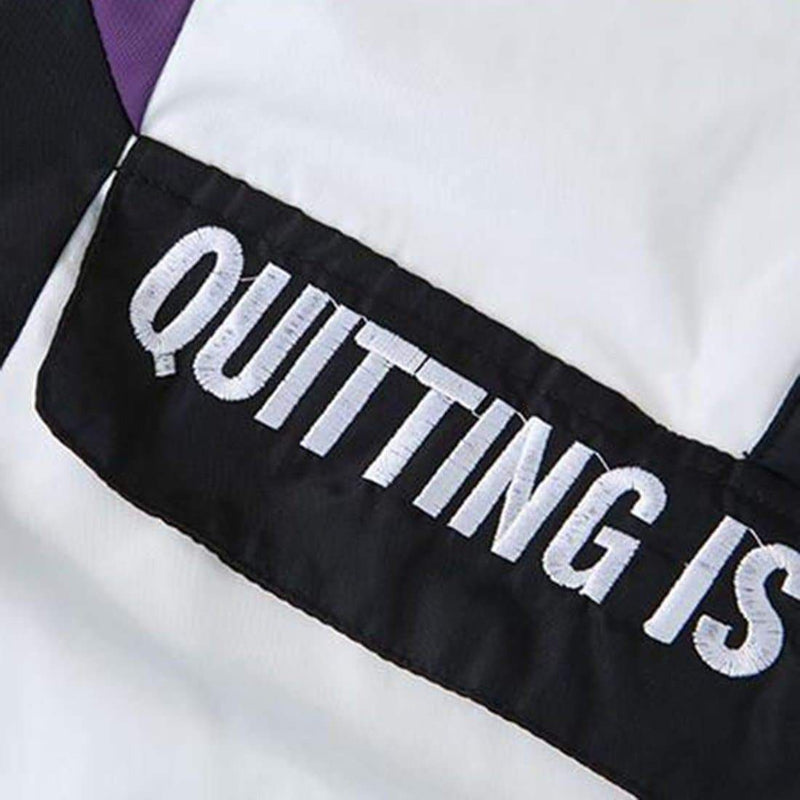 QUITTING IS NOT AN OPTION WINDBREAKER - Raiment NYC