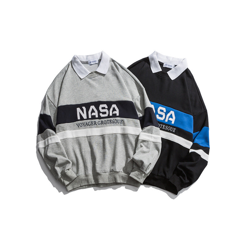 NASA COLLARED SWEATERSHIRT