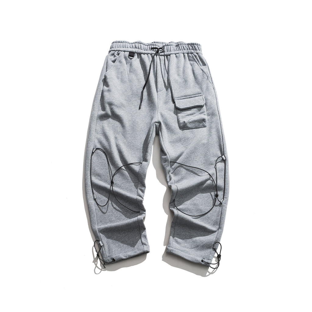 REFLECTIVE STRINGS CASUAL PANTS