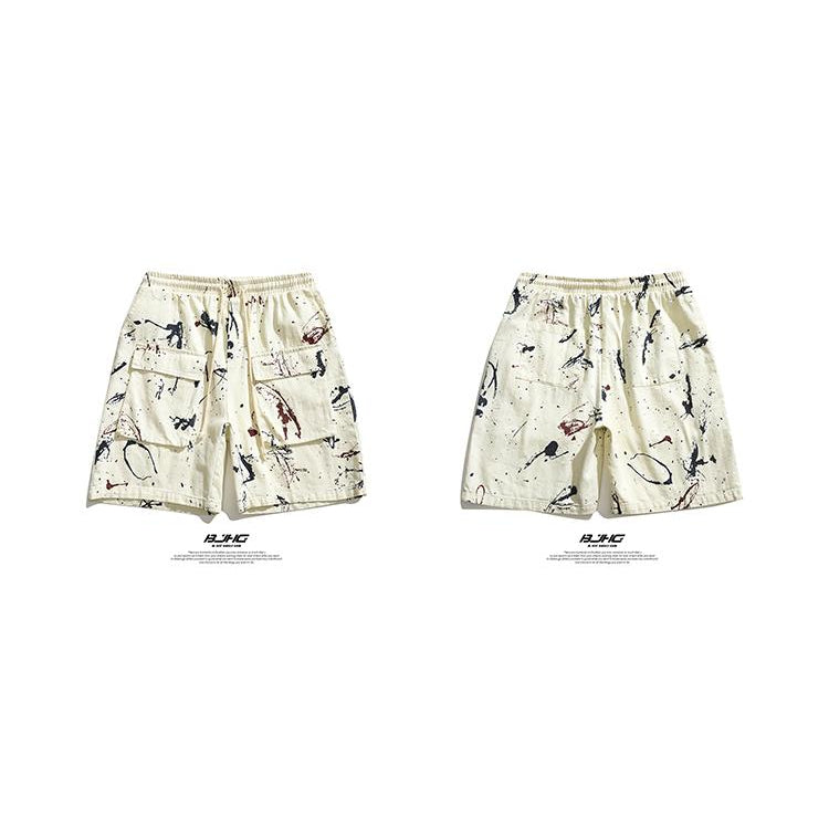 PAINT SPLATTER SHORTS