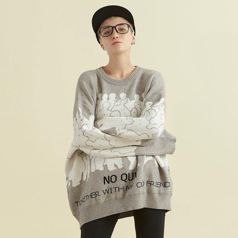 NO NEW FRIENDS SWEATER