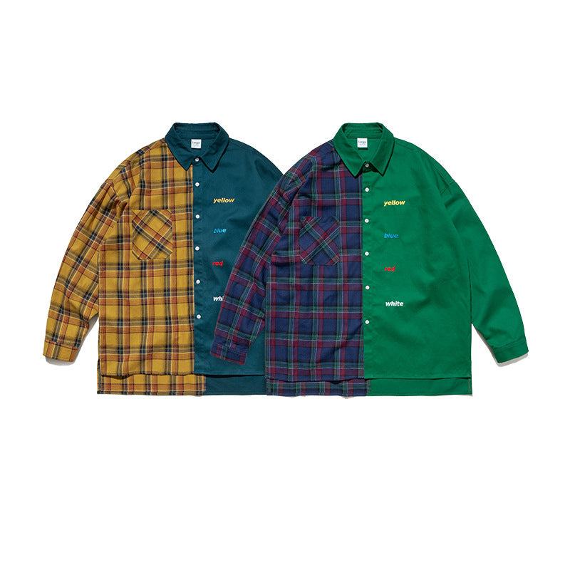 PLAID CONTRAST SHIRT - Raiment NYC