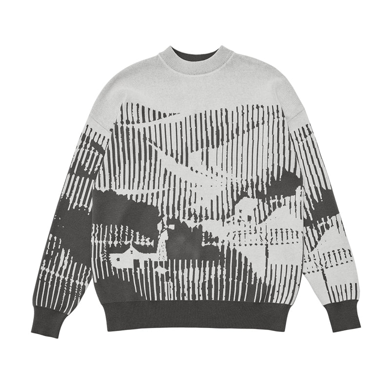 ABSTRACT LANDSCAPE SWEATER