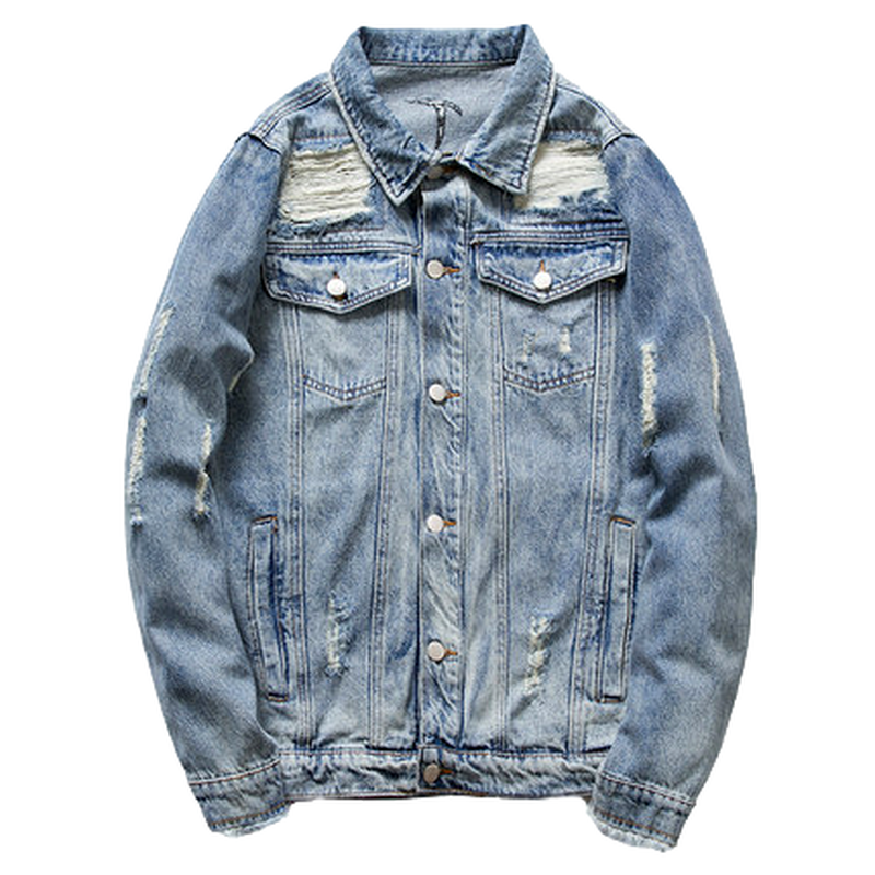 BUFFALO DISTRESSED DENIM JACKET