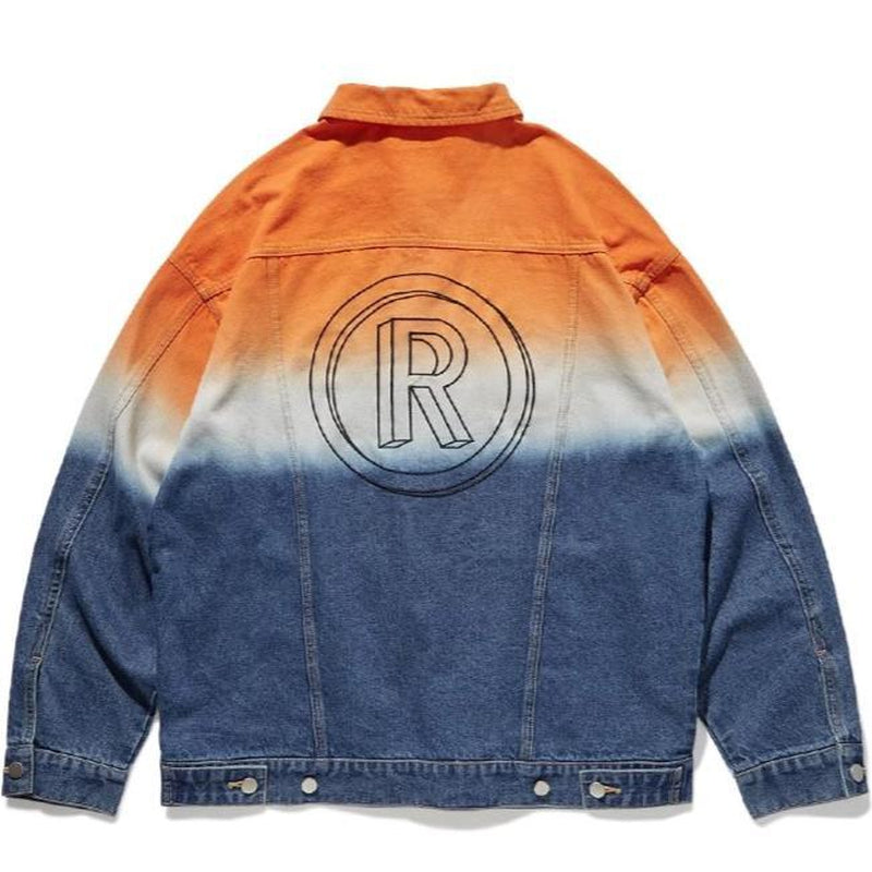 RAIMENT R GRADIENT DENIM JACKET - Raiment NYC
