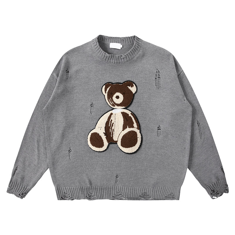 DISTRESSED TEDDY SWEATER