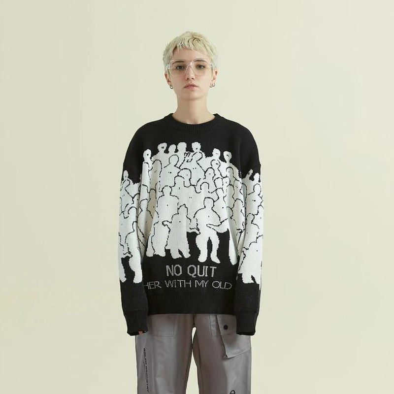 NO NEW FRIENDS SWEATER - Raiment NYC