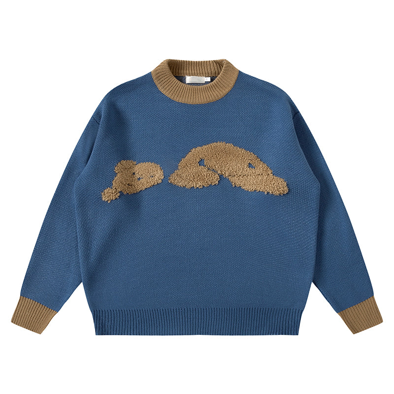 TORN BEAR SWEATER