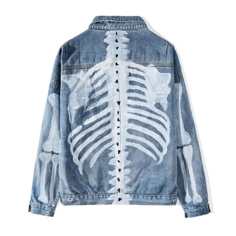 SKELETON DENIM JACKET - Raiment NYC