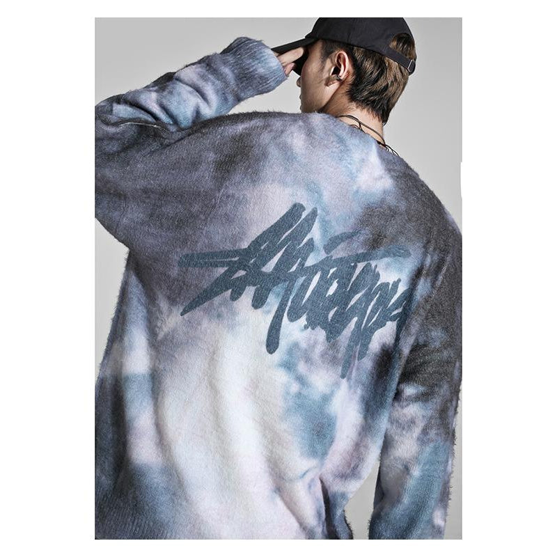 GRAFFITI TIE DYE SWEATER