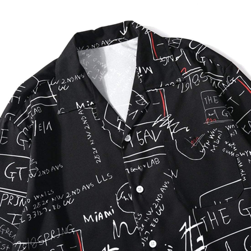 NERO GRAFFITI SHIRT - Raiment NYC