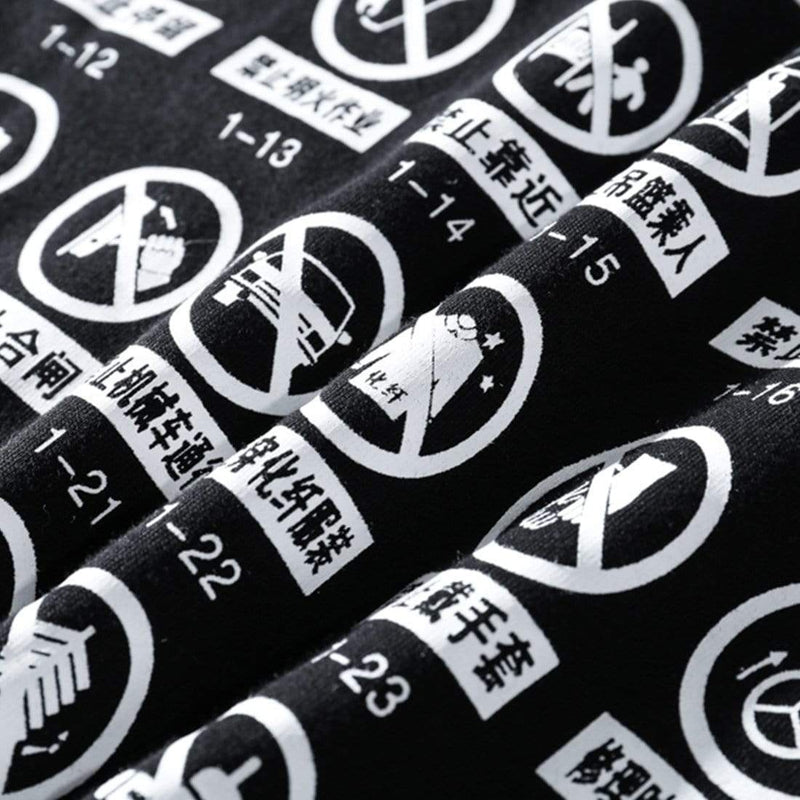 PROHIBITION SIGN TEE - Raiment NYC