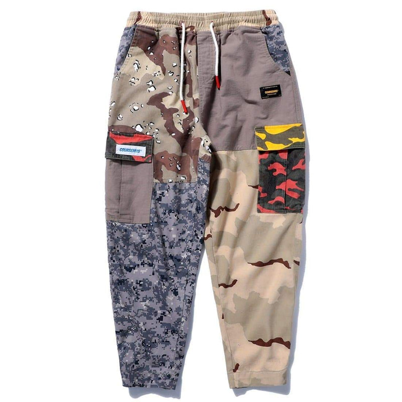 SINCLAIR PATCHWORK CAMO CARGO PANTS - Raiment NYC