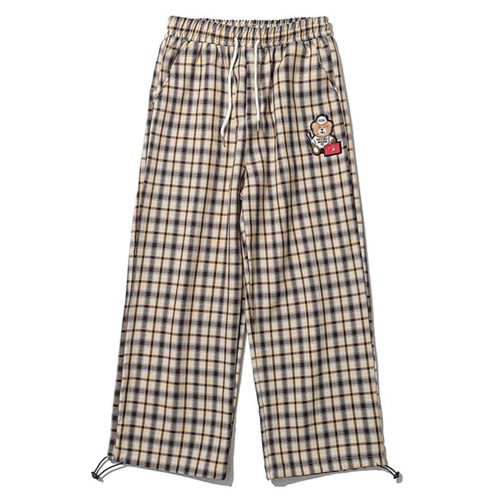 BEAR CHECKERED SWEAT PANTS