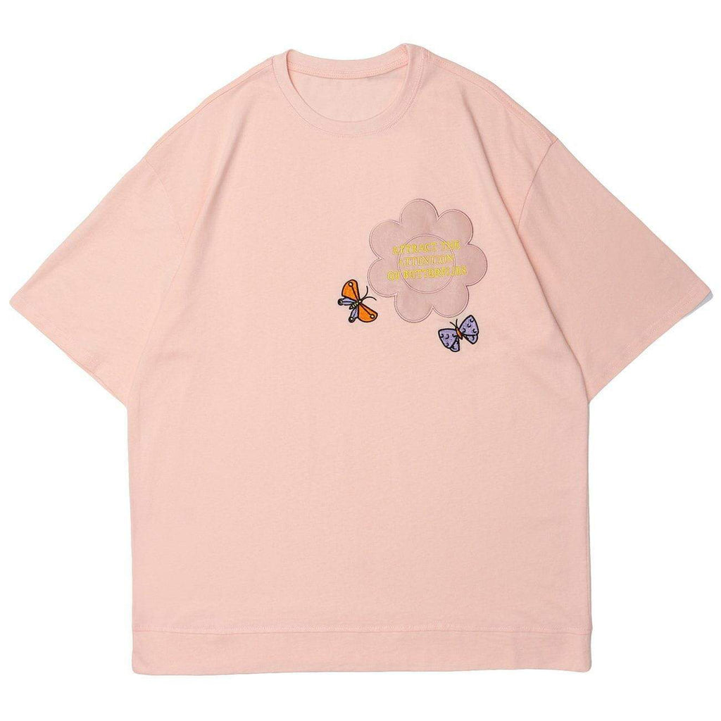 FLOWER ATTRACTS BUTTERFLIES TEE