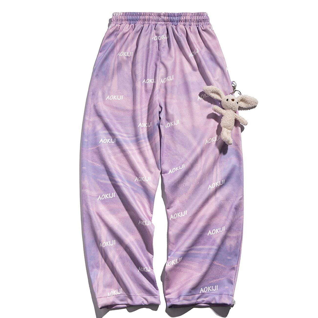 BUNNY LOCKET TIE-DYE PANTS