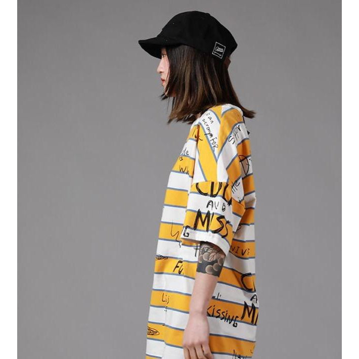 STRIPES & SCRIBBLES TEE