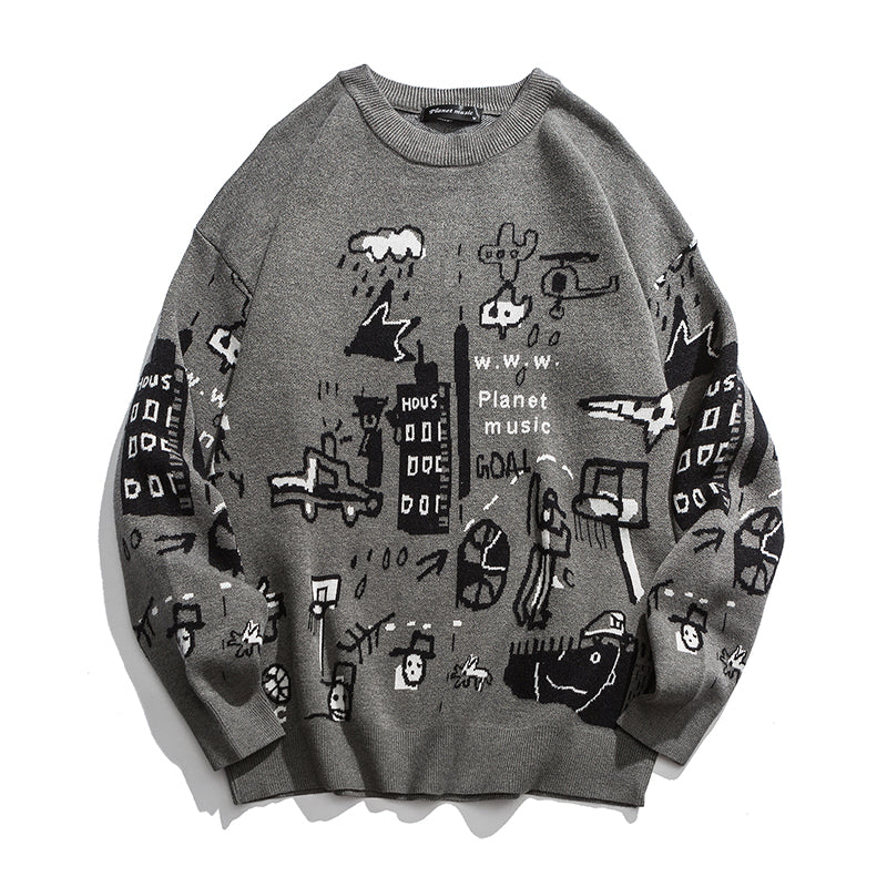 PLANET MUSIC SWEATER