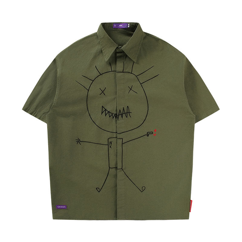 VILLAIN EMBROIDERY SHIRT