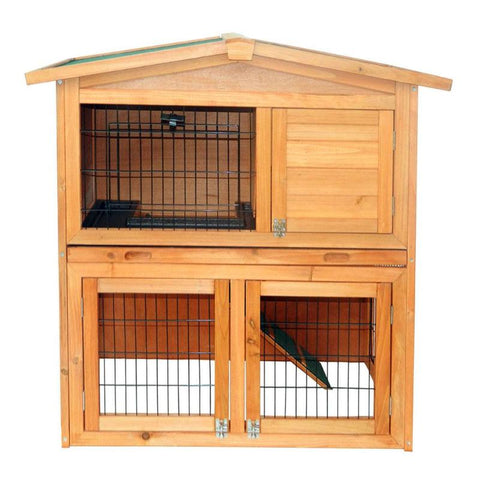 "40"" Waterproof Wooden A-Frame Chicken Coop"
