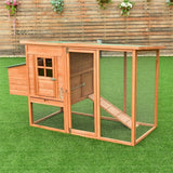 "68"" Wooden Chicken Coop (4-6 hens)"