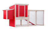 New Age Farm™ Sonoma Chicken Coop in Red/Maple
