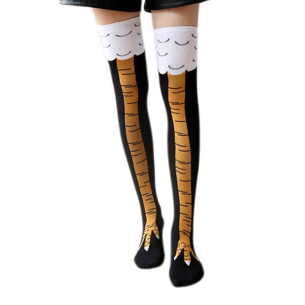 """Chicken Legs"" - Funny Festive Socks for Women 